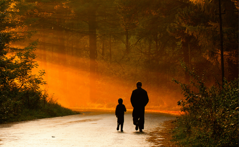 father-and-son-walking