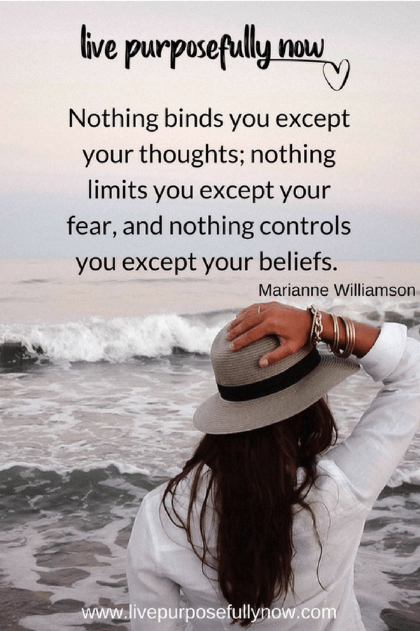 beliefs, thoughts and fear quotes