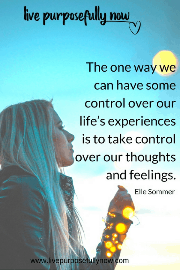 take charge of your future, control your thoughts