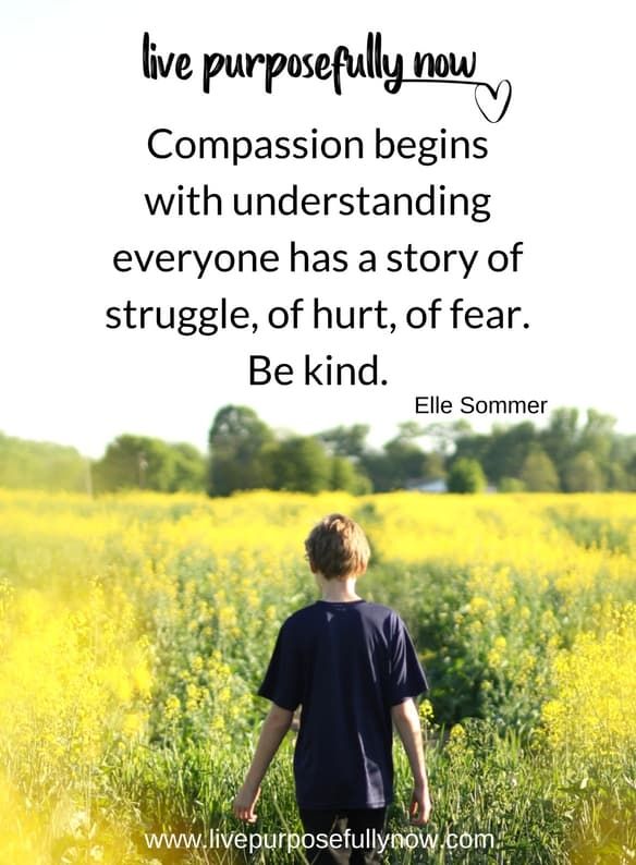 hurt, fear, struggle all need compassion and kindness