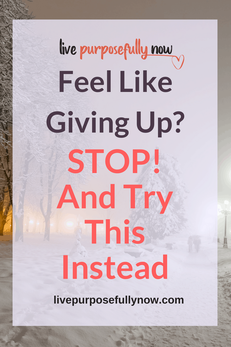 What Do You Do When You Feel Like Giving Up?