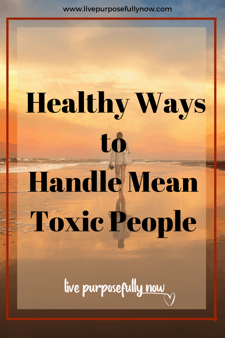 Healthy Ways to Handle Mean Toxic People