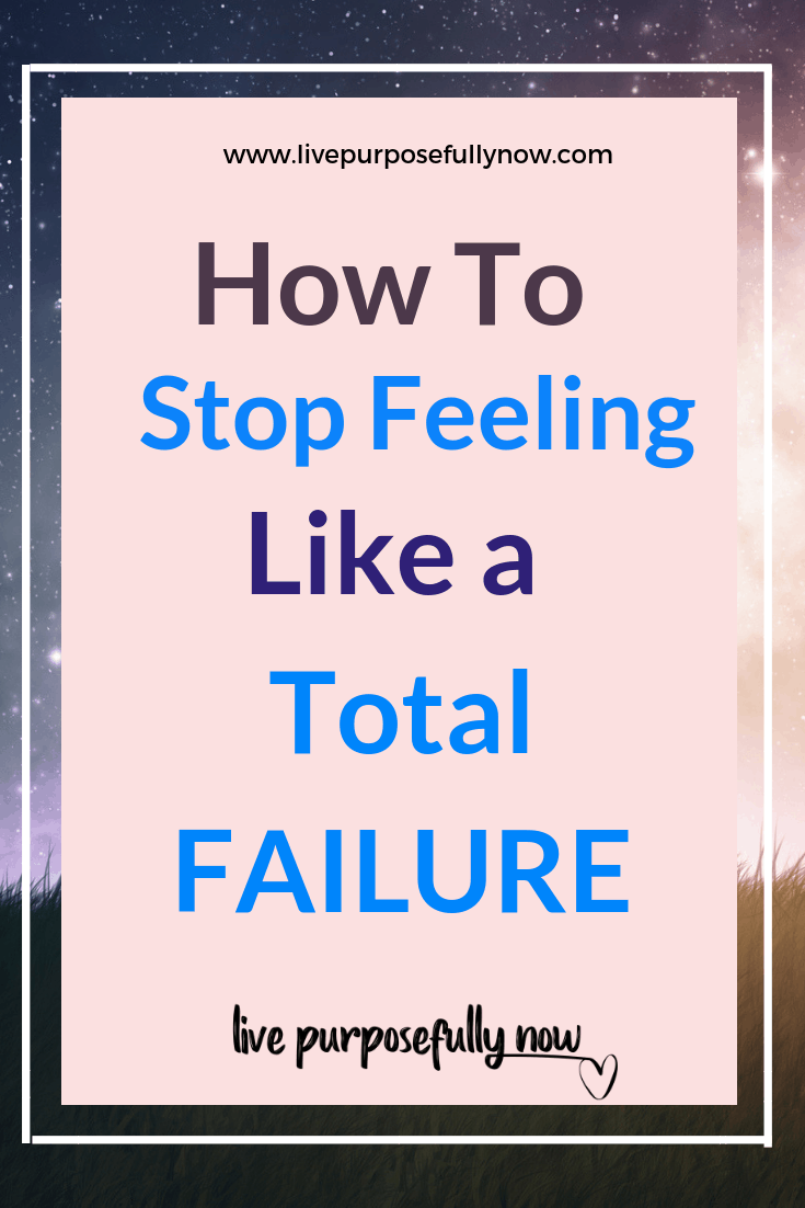 Feeling like a total failure doesn\'t come from your mistakes, but from your attitude to them.