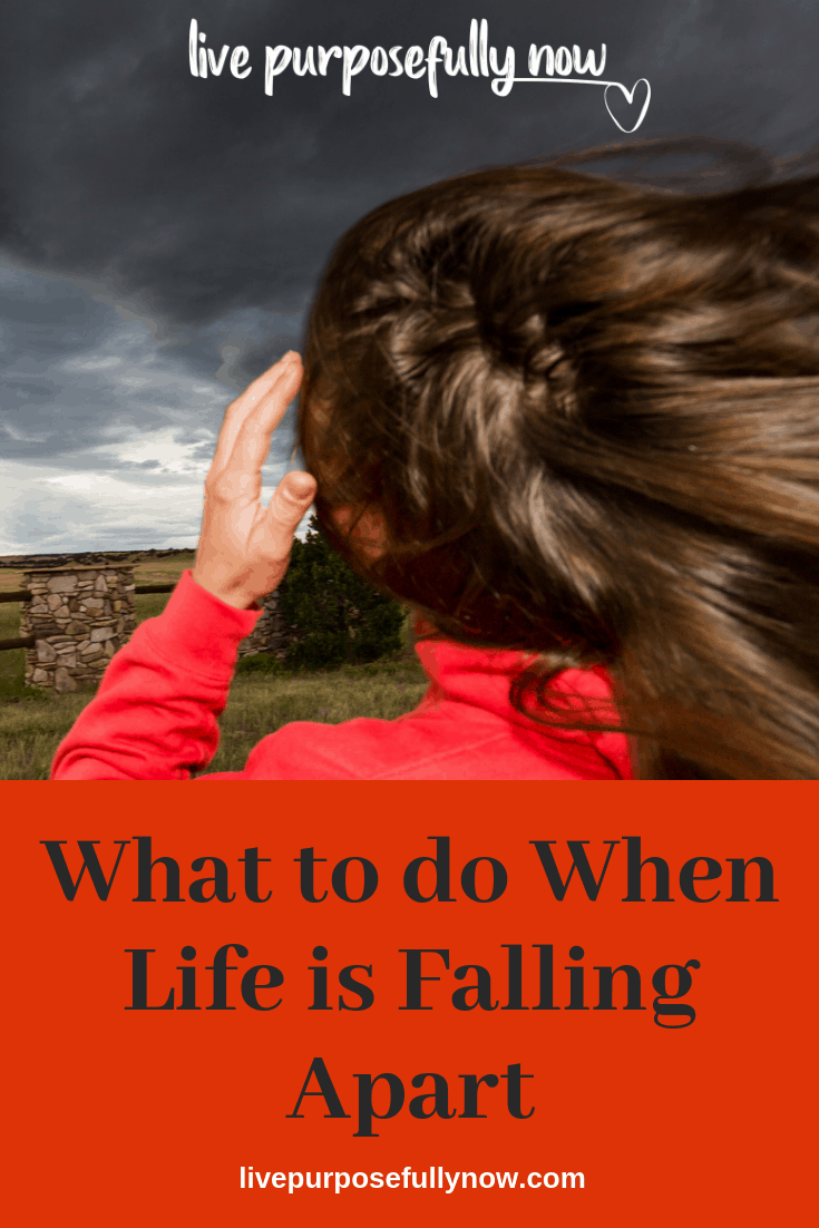 When life is falling apart, put your hand over your heart and feel the beat of life. You may be slap bang in the middle of a storm right now, so here\'s 3 ways to weather it and come out the other side a more triumphant you.
