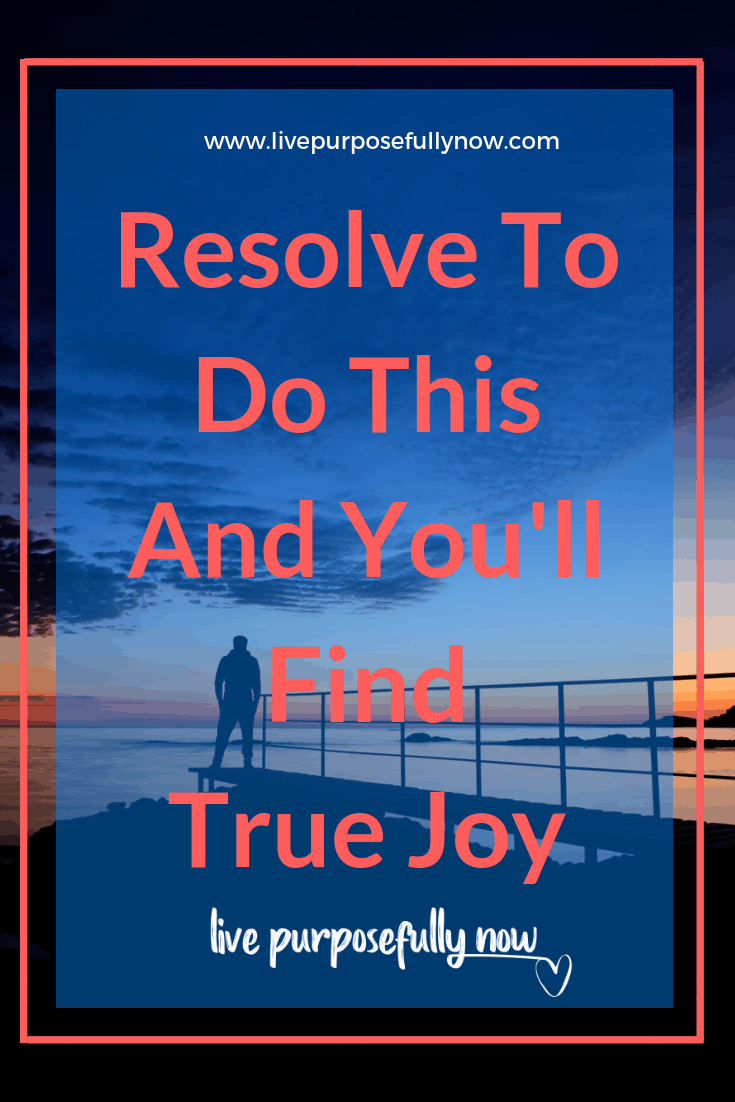 Resolve to do this on thing and find joy in the process of becoming rather than fixating on results.